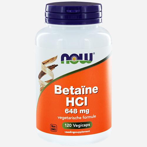 Betaine HCI - Now Foods - 120 Grönsakskapslar