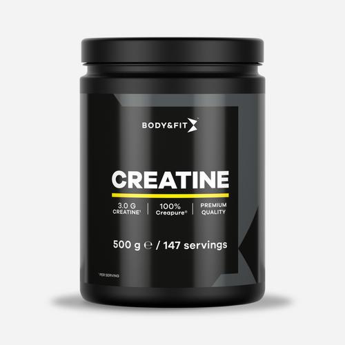 Creapure® Creatine - Body & Fit - Naturlig (ingen Smaksättning) - 500 Gram (125 Doser)