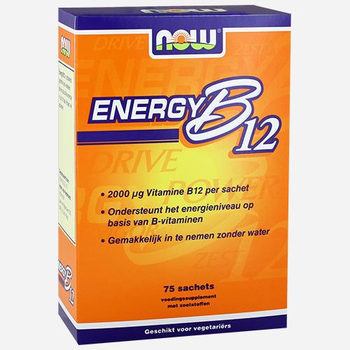 Instant Energy B12 - Now Foods - Utan Smak - 75 Gram (75 Påsar)