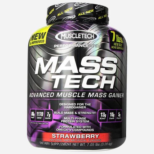 Mass Tech - Muscletech - Jordgubb - 3200 Gram (14 Shakes)