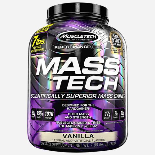 Mass Tech - Muscletech - Vanilj - 3200 Gram (14 Shakes)