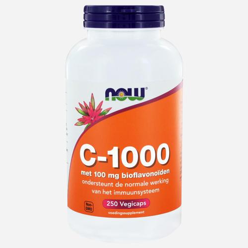 Vitamin C 1000 Capsules - Now Foods - 250 Grönsakskapslar