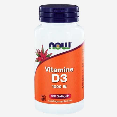 Vitamin D3 (1000IU) - Now Foods - 180 Mjuka Gelégummin