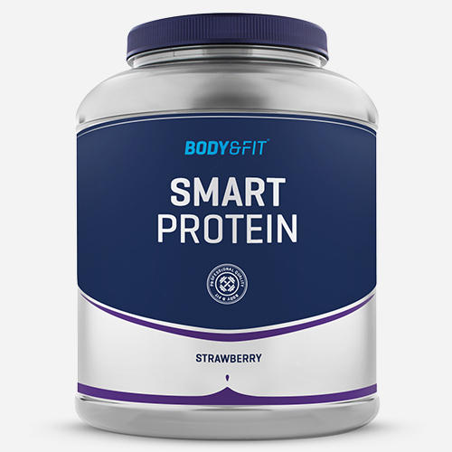 Smart Protein - Body & Fit - Milkshake Jordgubb - 2000 Gram (71 Shakes)