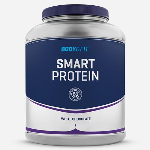 Smart Protein - Body & Fit - Milkshake Vit Choklad - 2000 Gram (71 Shakes)