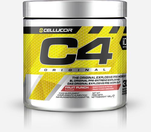 C4 Original Pre-Workout - Cellucor - Fruktbål - 195 Gram (30 Doser)