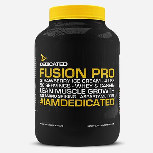 Fusion Pro - Dedicated Nutrition - Milkshake Jordgubbsglass - 1814 Gram (56 Shakes)