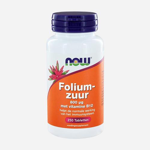 Folic acid - Now Foods - 250 Tabletter
