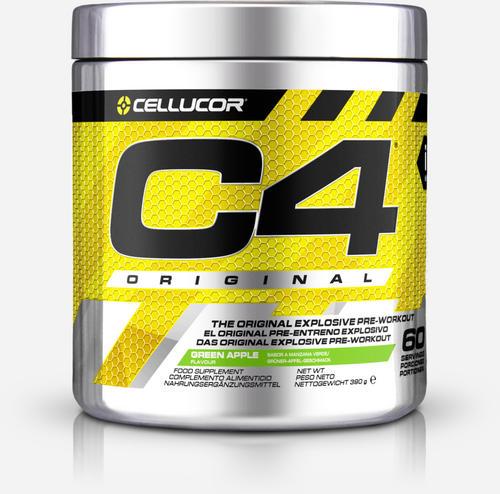 C4 Original Pre-Workout - Cellucor - Grönt Äpple - 390 Gram (60 Doser)