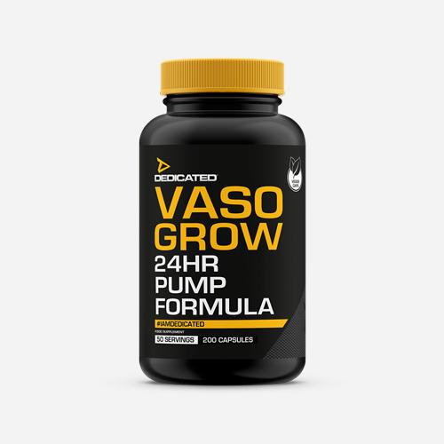 Vaso Grow - Dedicated Nutrition - 200 Kapslar (50 Doser)