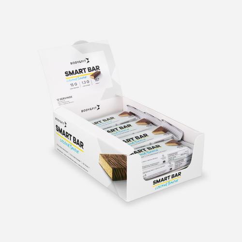 Smart Bar - Body & Fit - Ny & Förbättrad Look - Läcker Kokos - 540 Gram (12 Bars)