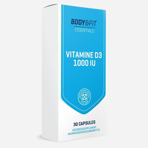 Vitamin D3 - 1000IU - Body & Fit - 30 Kapslar