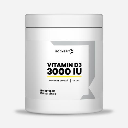 Vitamin D3 - 3000 IU - Body & Fit - 180 Kapslar (6 Månader)