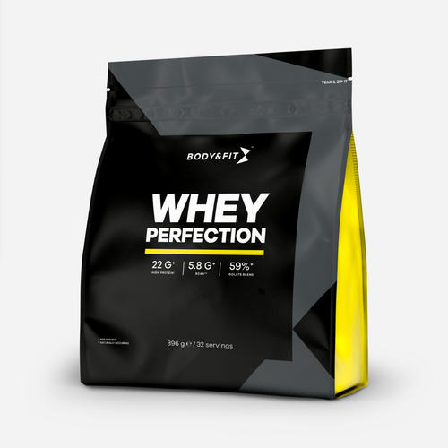 Whey Perfection - Body & Fit - Milkshake Jordgubb - 896 Gram (32 Shakes)