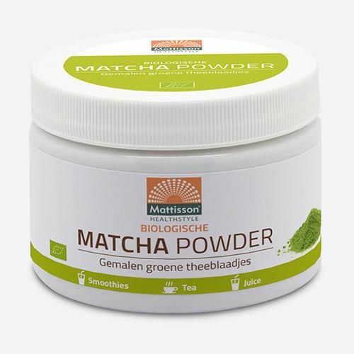 Matchapulver - Mattisson - Naturel - 125 Gram