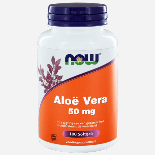 Aloe Vera Softgels - Now Foods - 100 Mjuka Gelégummin