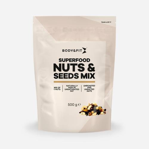 Superfood, Nuts & Seeds Mix - Body & Fit - Med Nötter Och Frön - 500 Gram