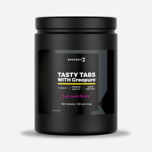Creapure® Creatine Tasty Tabs - Body & Fit - Fruktsensation - 180 Tuggtabletter (2 Månader)