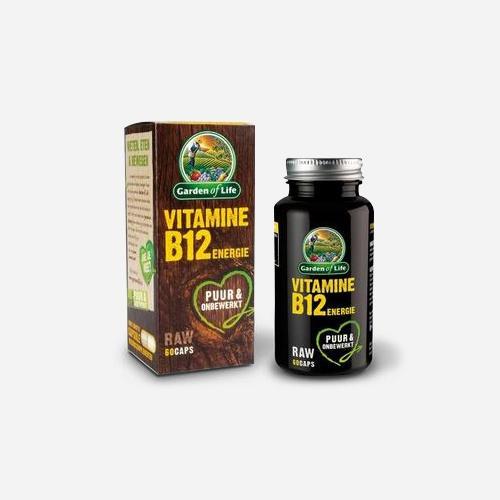 Vitamin B12 RAW Energy - Garden of Life - 60 Kapslar (2 Månader)