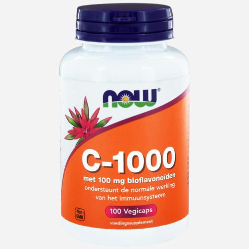 Vitamin C 1000 Capsules - Now Foods - 100 Grönsakskapslar