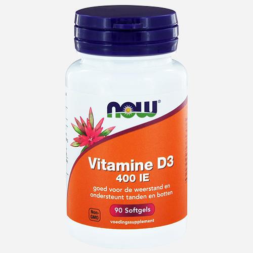 Vitamin D3 400IU - Now Foods - 90 Mjuka Gelégummin