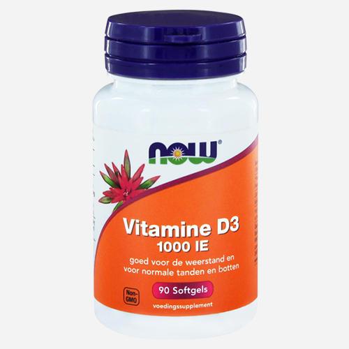 Vitamin D3 (1000IU) - Now Foods - 90 Mjuka Gelégummin