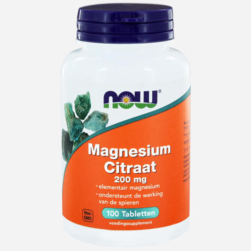 Magnesium Citrate - Now Foods - 100 Tabletter