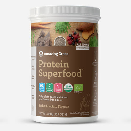 Protein Superfood - Amazing Grass - Fyllig Chokladsmak - 1 Paket (360 Gram)
