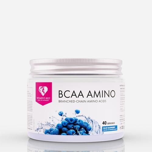 BCAA Amino - Womens Best - Blå Hallon - 200 Gram (20 Doser)