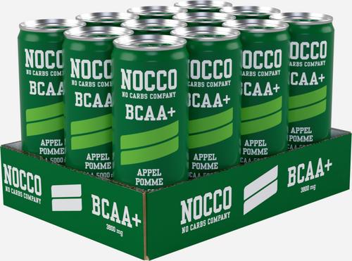 Nocco BCAA+ Drink (koffeinfri) - Nocco - No Carbs Company - Äpple - 12 Enheter (3960 Ml)