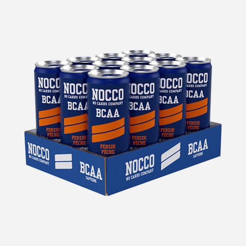 Nocco BCAA Drink - Nocco - No Carbs Company - Persika - 12 Enheter (3960 Ml)