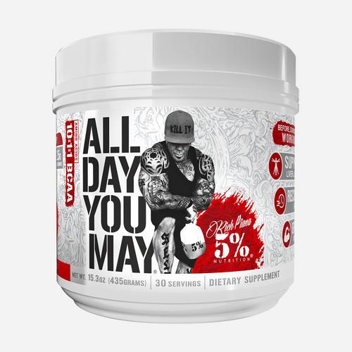 All Day You May - 5% Nutrition Rich Piana - Fruktbål - 465 Gram (30 Doser)