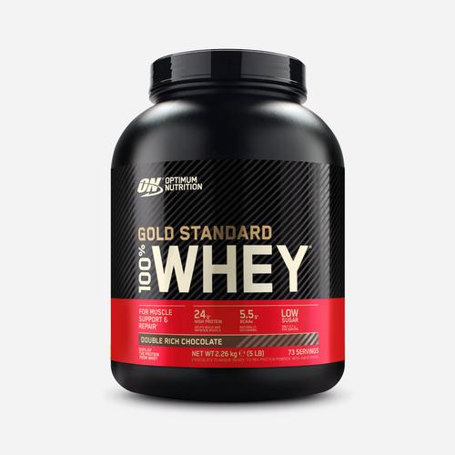 Gold Standard 100% Whey - Optimum Nutrition - Dubbel Fyllig Chokladsmak - 2270 Gram (74 Shakes)