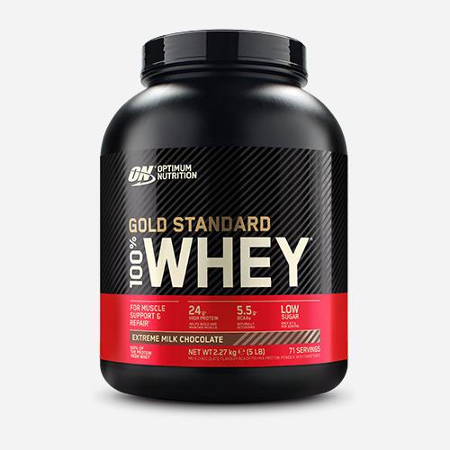 Gold Standard 100% Whey - Optimum Nutrition - Extreme Milk Chocolate - 2270 Gram (71 Shakes)