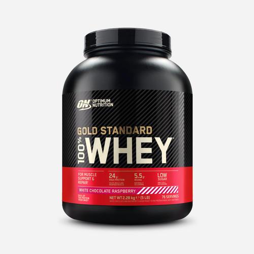 Gold Standard 100% Whey - Optimum Nutrition - White Chocolate Raspberry - 2270 Gram (73 Shakes)