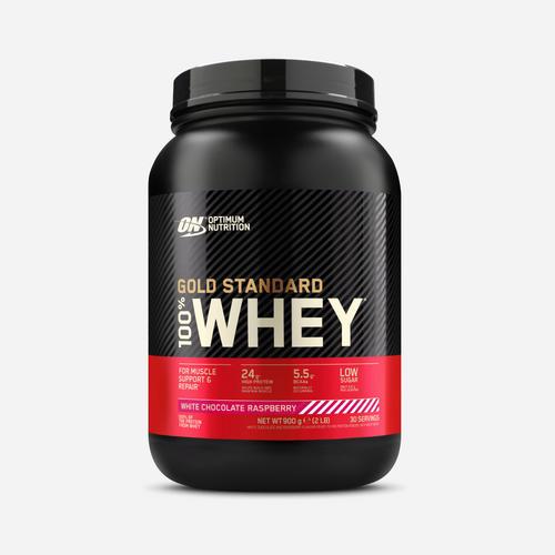 Gold Standard 100% Whey - Optimum Nutrition - Vit Choklad Hallon - 908 Gram (29 Shakes)
