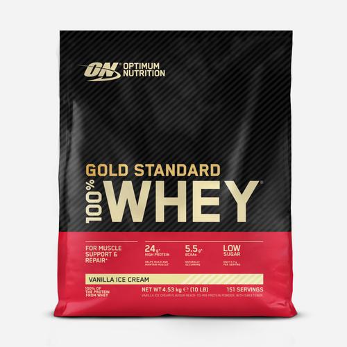 Gold Standard 100% Whey - Optimum Nutrition - Vaniljglass - 4540 Gram (154 Shakes)