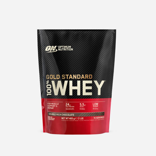 Gold Standard 100% Whey - Optimum Nutrition - Double Rich Chocolate - 450 Gram (14 Shakes)