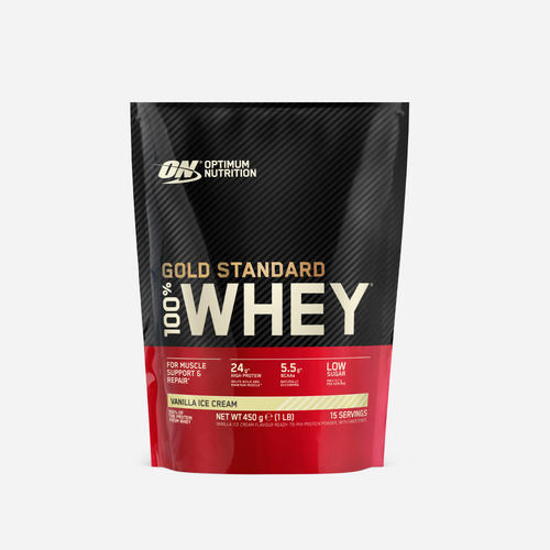 Gold Standard 100% Whey - Optimum Nutrition - Vanilla Ice Cream - 450 Gram (15 Shakes)