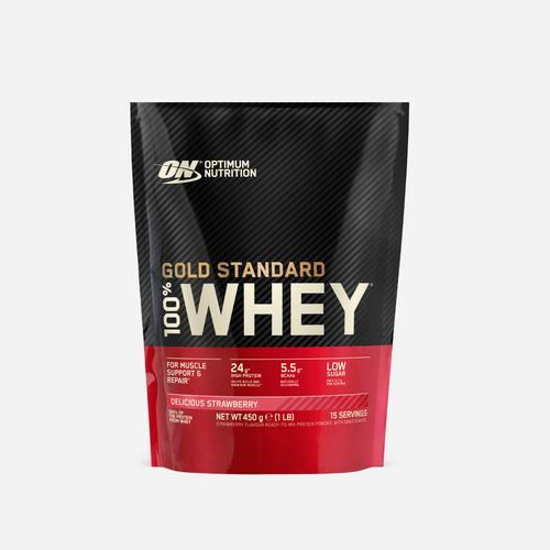 Gold Standard 100% Whey - Optimum Nutrition - Jordgubb - 450 Gram (15 Shakes)