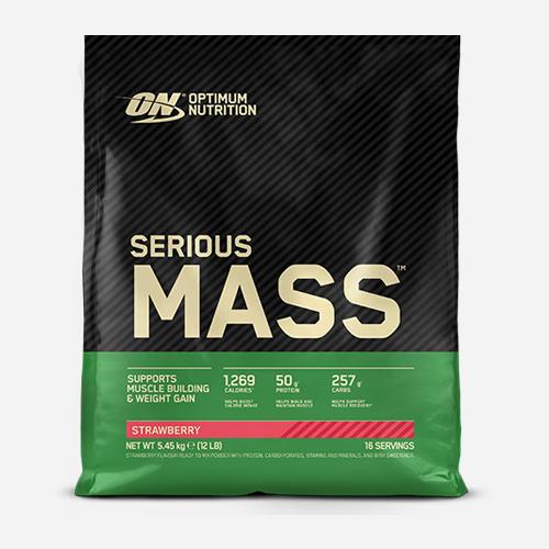 Serious Mass - Optimum Nutrition - Strawberry - 5455 Gram (16 Shakes)