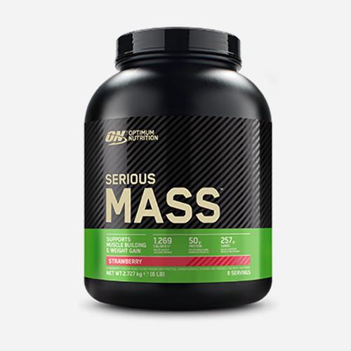 Serious Mass - Optimum Nutrition - Jordgubb - 2724 Gram (8 Shakes)
