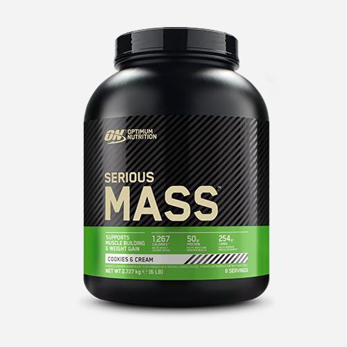 Serious Mass - Optimum Nutrition - Cookies & Cream - 2724 Gram (8 Shakes)