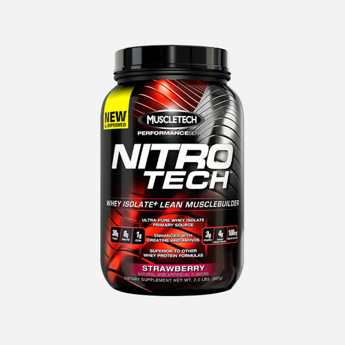 Nitrotech performance - Muscletech - Jordgubb - 1800 Gram (39 Shakes)