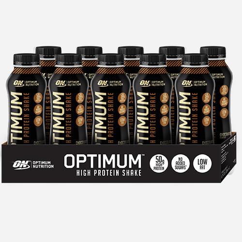 Optimal proteinshake - Optimum Nutrition - Chocolate - 500 Ml (10 Flaskor)