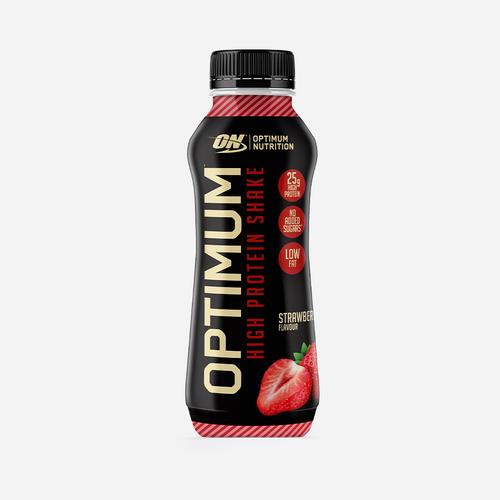 Optimal proteinshake - Optimum Nutrition - Jordgubb - 330 Ml (10 Flaskor)