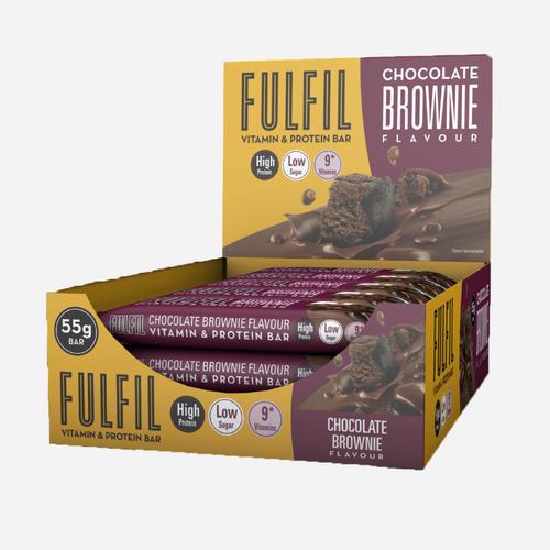 Vitamin & Protein Bars - Fulfil Nutrition - Chokladbrownie - 900 Gram (15 Bars)