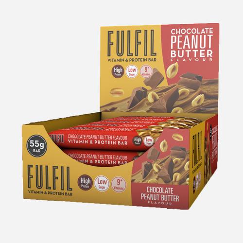 Vitamin & Protein Bars - Fulfil Nutrition - Chocolate Peanut Butter - 900 Gram (15 Bars)