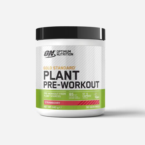 Gold Standard Plant Pre-Workout - Optimum Nutrition - Strawberry - 240 Gram (30 Doser)