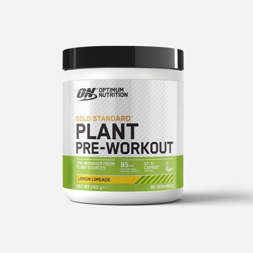 Gold Standard Plant Pre-Workout - Optimum Nutrition - Lemon Limeade - 240 Gram (30 Doser)